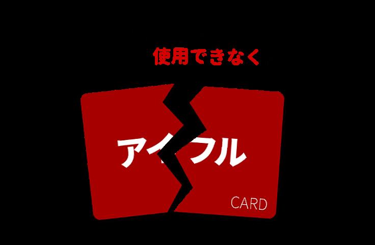 アイフルカードの利用ができなくなります