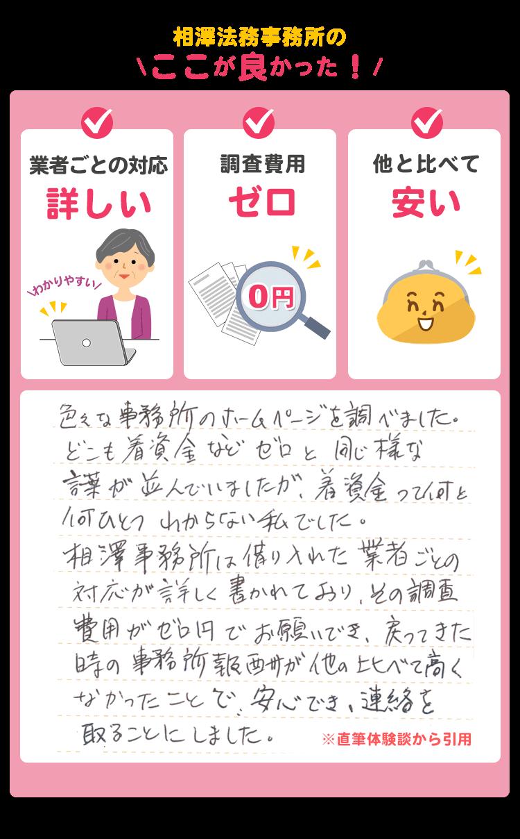 相澤法務事務所に相談
