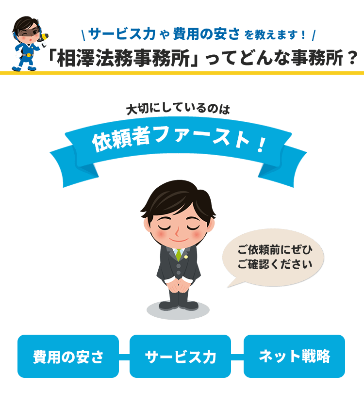 相澤法務事務所に依頼したい!
