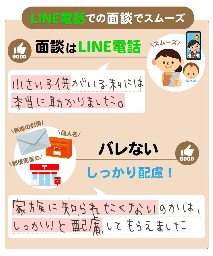 LINE電話での面談でスムーズ