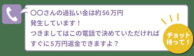 5万円返金できますよ?